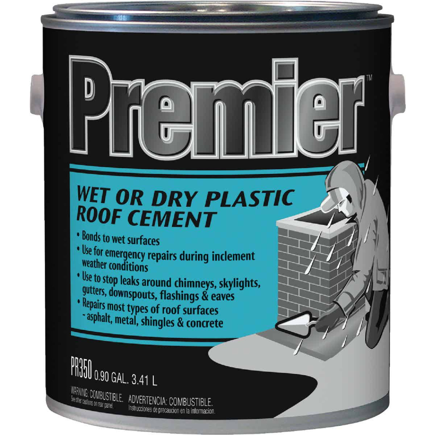 Premier 350 1 Gal. Wet or Dry Plastic Roof Cement Image 1