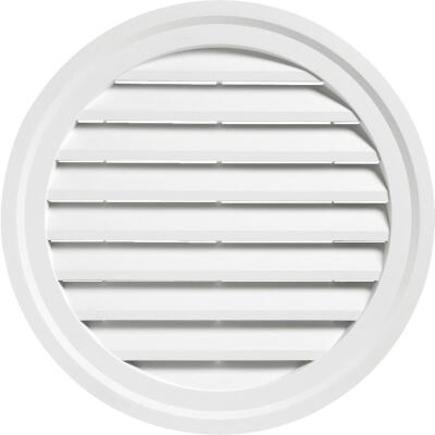 "Ply Gem 18"" Round White Gable Attic Vent"