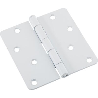 National 4 In. x 1/4 In. Radius White Door Hinge