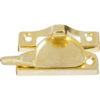 National Bright Brass Finished Die-Cast Zinc Crescent Sash Lock Image 1