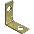 National Catalog V115 1 In. x 1/2 In. Brass Steel Corner Brace (4-Count) Image 1