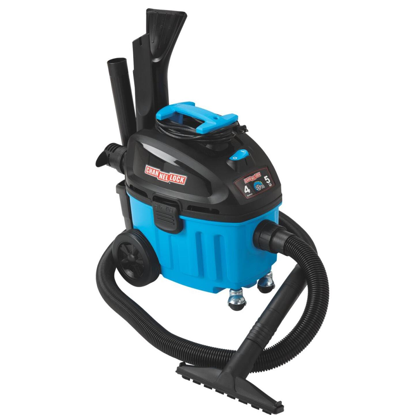 Channellock 4 Gal. 5.0-Peak HP Contractor Wet/Dry Vacuum Image 1