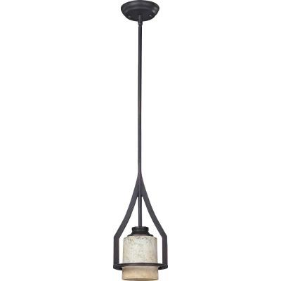 Home Impressions Warren 1-Bulb Rubbed Antique Bronze Incandescent Mini Pendant Light Fixture