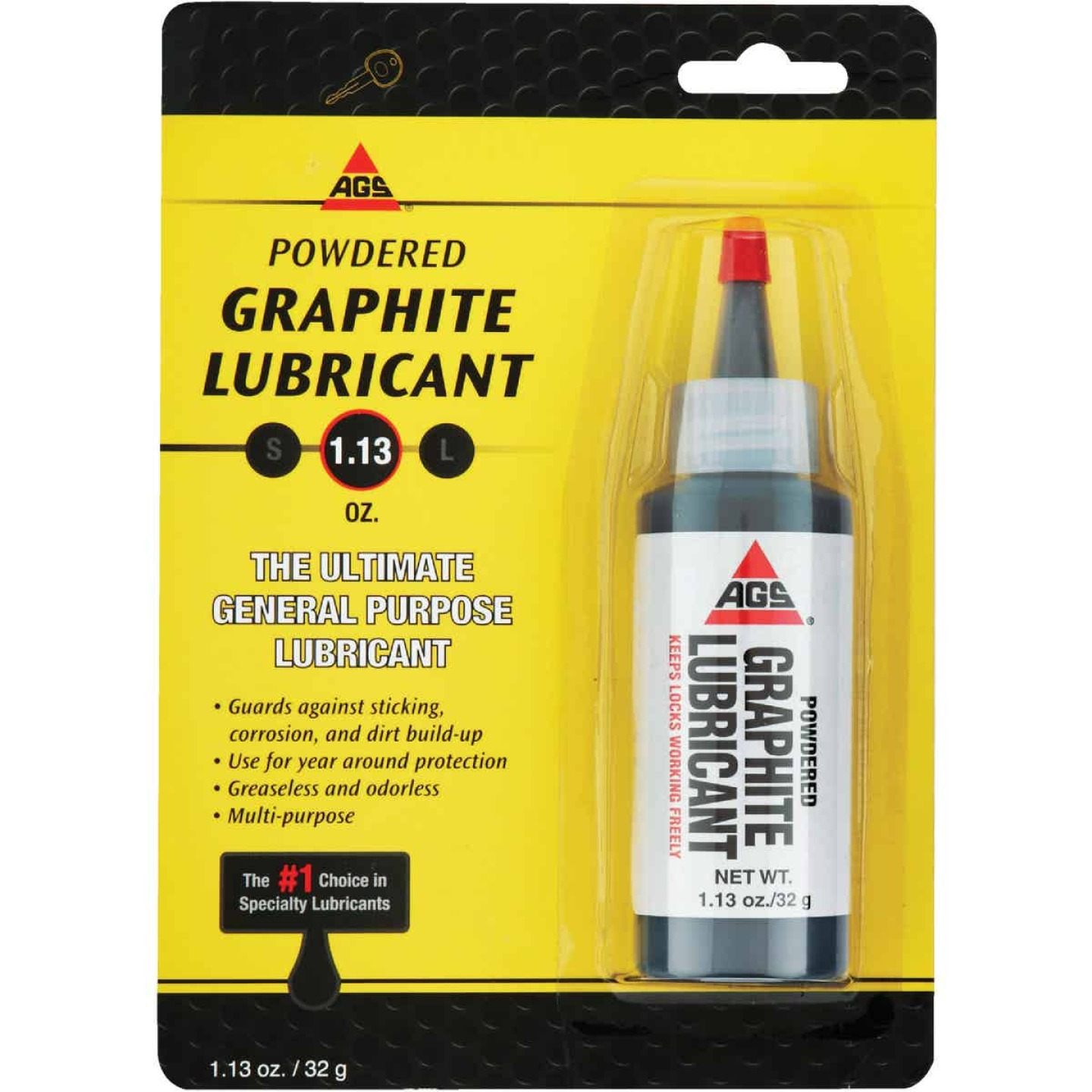 AGS 1.13 Oz. Bottle Powdered Graphite Dry Lubricant Image 1